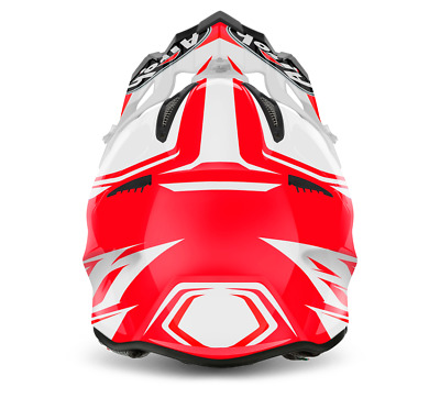 Airoh Aviator 2.2 Ready Red Motocross Helmet Gold Stamped Approved