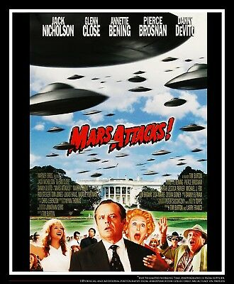 """MARS ATTACKS 27"""" x 40"""" Rolled US One Sheet Movie Poster Original 1996"""