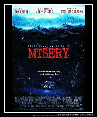 """MISERY Rob Reiner 27"""" x 40"""" Rolled US One Sheet Movie Poster Original 1990"""