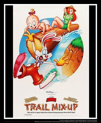 """ROGER RABBIT TRAIL MIX 27"""" x 40"""" Rolled US One Sheet Movie Poster Original 1993"""