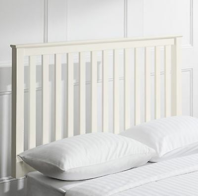 NEW Tesco Southwold Solid Pine Double Headboard - Ivory
