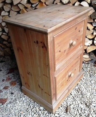 ~Solid Pine 2 Drawer Filling Chest / Cabinet~