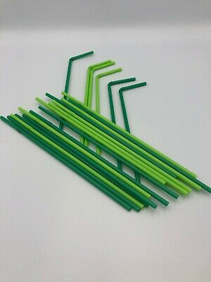 Green Straw Bio Degradable Eco Recyclable Bendy Neck Straws 500-8000