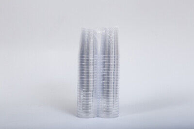 Crystal Clear Hard Disposable Plastic Shot Glasses Heavy Duty Reusable 4cl x 100