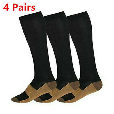 Socks Anti Fatigue Compression socks 20-30 mmHg S-XXL 4 Pairs US stock