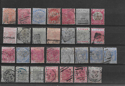 British Colonies & Territories:nice selection of used, all Queen Vict(see scans)