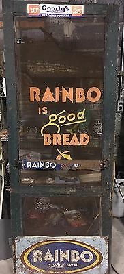 Vintage Rainbo Bread General Store Door with Advertising Signs Pull