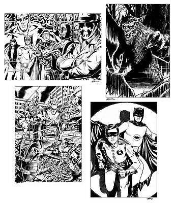 Original A3 Art Commission By Comic Pro Dave Golding Marvel Dc Image Idw