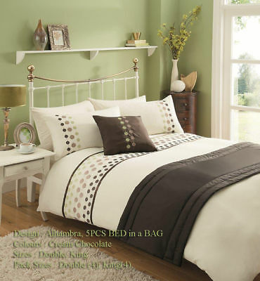 Alhambra 5 PCs Bed In a Bag Duvet Cover Bed Set Cushion Cover & Runner (2)