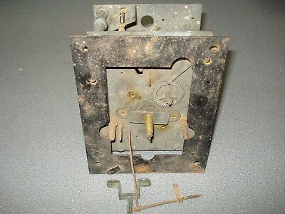 8 Day Longcase Grandfather Clock Movement & Falseplate For Parts Spares