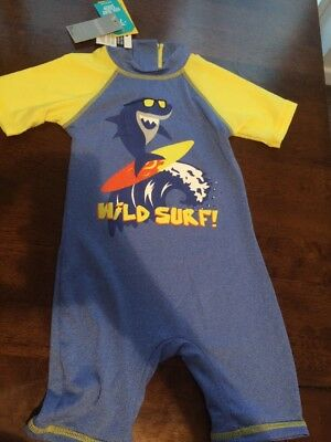 Baby Boys Sun Safe Swim Suit 12-18m Matalan Swimming Holiday UV