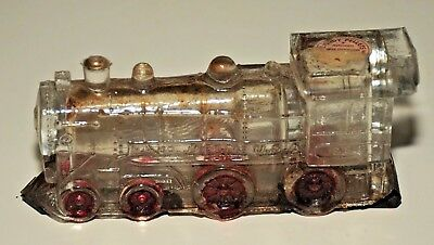 Antique Jnet Glass Candy Container Locomotive 888 Two Window Model