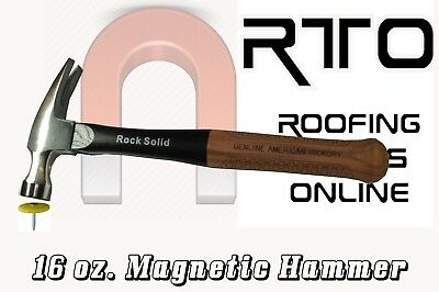 New Rock Solid Magnetic Hammer 16 oz Martillo magnético  Hickory Handle