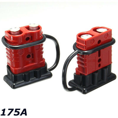 2x Battery Connector 2AWG Winch Cable Quick Connect Booster Plug 175A 12-36 volt