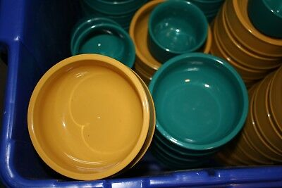 New Lot 4 Aladdin Temp Rite ALB230 8oz Thermal Insulated Bowls Blue and Yellow