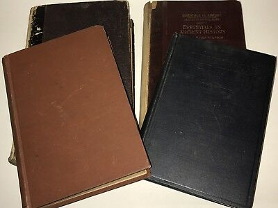 Lot Of 4 Antique Ancient Civilization History Books Textbook 1855-1919 Greece