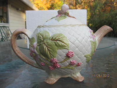 Chelsea Morning by Hallie Greer Teapot By Franklin Mint 1988 New