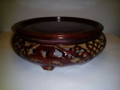 Chinese carved hardwood stand,good detail,Chinese rosewood.