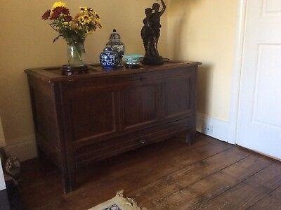 Antique 18th Century Coffer with 1 large drawer at the bottom.