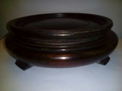 Antique chinese large 8 inch hardwood stand