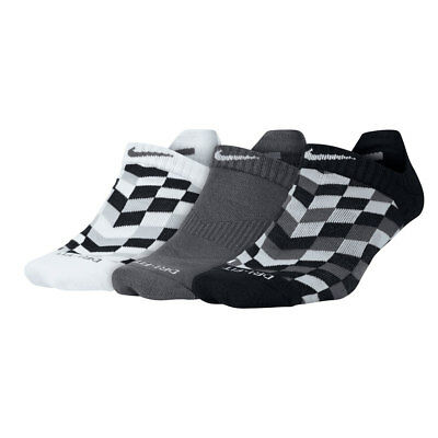 NEW with tags Women's NIKE 3 PAIRS Dri-Fit COTTON CUSHION NO SHOW Socks