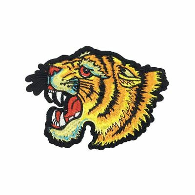 Roaring Tiger (Iron On) Embroidery Applique Patch Sew Iron Badge