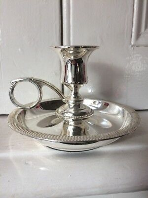 Vintage Silver Plated Chamberstick