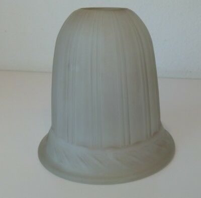 "Art Deco Tulip Lamp Light Shade Antique Vintage Frosted Glass Beige 5.5"" Tall"