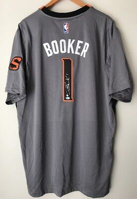 detailed look 3a725 98601 DEVIN BOOKER ADIDAS Authentic Signed Suns Swingman XXL Auto NBA Jersey  (STEINER)
