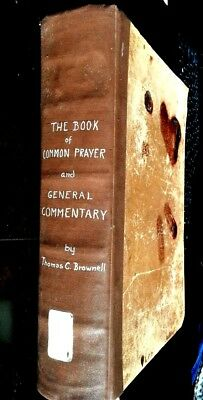 Rare 1840s Book Common Prayer Episcopal Bishop Whittington Baltimore Abe Lincoln