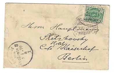 Finland stamp cover 1893 - Helsinki to Berlin - useful cancels