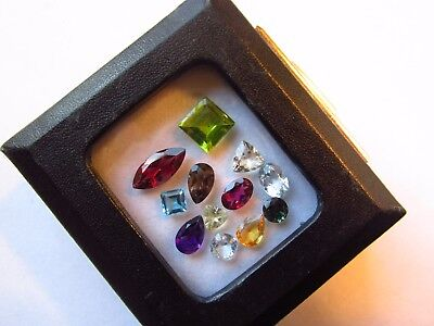 Natural Mixed Faceted Loose Gemstone Parcel Lot Scapolite Indicolite Tourmaline