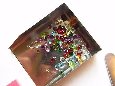 Natural Mixed Faceted Loose Gemstone Lot Parcel Bench Jeweler 15 Cts
