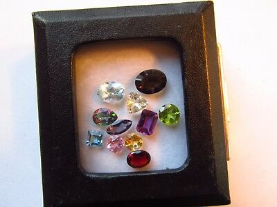 Natural Mixed Faceted Loose Gemstone Parcel Lot Pink Tourmaline Mystic Topaz