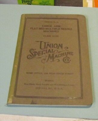 1911 Union Special Sewing Machine Company Catalog No. 33 Large Arm Flat Bed