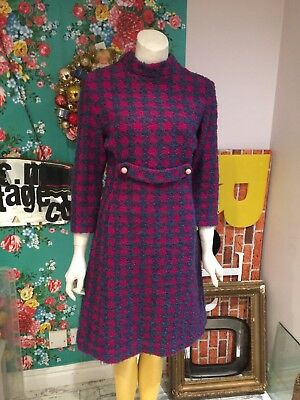 Vintage Retro 1960's Woollen Dress Size 10?