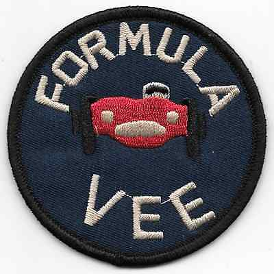 "Formula Vee Racing Jacket Patch 2.87""x2.87"" Iron On US FREE SHIPPING"