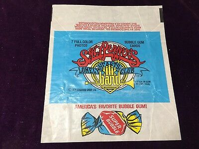 Donruss 1978 Sgt. Pepper's Lonely Heart Club Band Trading Card Empty Wrapper