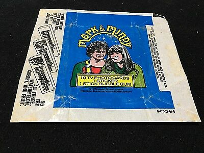 Mork and Mindy  Wax Wrapper Only  1979 Topps Chewing Gum Cards  Bazooka Gum Ad