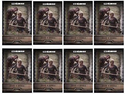 8x FORGED STEEL WAVE 2 SHANE AND ANDREA Topps Walking Dead Trader Digital