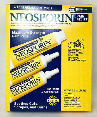 Neosporin Antibiotic Maximum Strength Pain Relief 3 pack 2oz (1x1oz + 2x0.5 oz)
