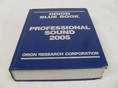 Orion Blue Book 2005 Professional Sound Edition
