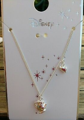Disney Beauty & The Beast Mrs Potts & Chip necklace.Officially licenced . NEW