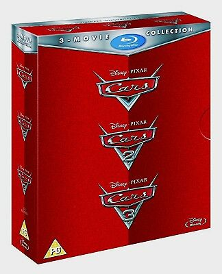 CARS 1-3 Movie Collection [Blu-ray Box Set] Complete Trilogy Disney Pixar 1 2 3