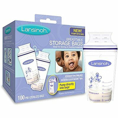Lansinoh Breastmilk Breast Pump Accessories Storage Bags With Convenient Pour