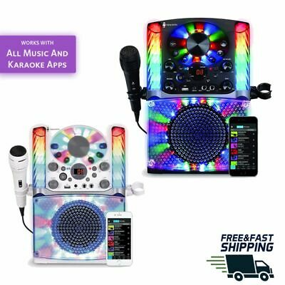 KARAOKE MACHINE SYSTEM Microphone Bluetooth CD/G Audio Singing LED Display