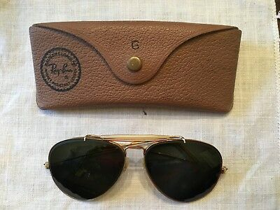 Ray-Ban Bausch & Lomb Aviator Prescription Sunglasses in Brown Leather Case
