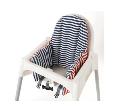 IKEA Antilop Highchair Cushion Cover Reversible 2 Colour red or Blue Pyttig 💚💜