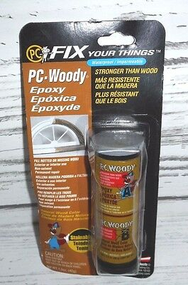 2 PC Products PC-Woody Two-Part Wood Repair Epoxy Paste 1.5 oz