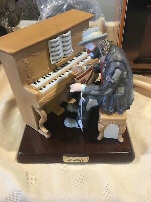 Flambro Original Emmett Kelly On The Piano Limited Edition/Numbered Statue MINT